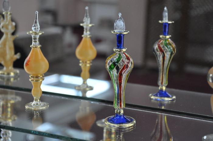 nanine doerle bottle glass art